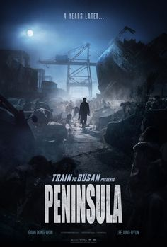 PENINSULA takes place four years after the zombie outbreak in TRAIN TO BUSAN. The Korean peninsula is devastated and Jung-seok, a former soldier who has managed to escape overseas, is given a mission to go back and unexpectedly meets survivors. Gong Yoo, Ha Ji Won, Film Zombie, Zombie Movies, Park Shin Hye, Movies To Watch, Good Movies, Train To Busan, Peliculas Online Hd