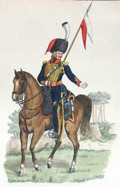 Cavaliere dello squadrone di élite del reggimento di cavalleria nazionale della prussiana settentrionale