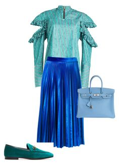 """""""Мои сеты (цвет)"""" by mariagarzillo on Polyvore featuring mode, Maggie Marilyn, MSGM, Gucci et Hermès"""