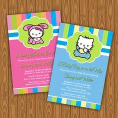 Hello Kitty Baby Shower Invitations