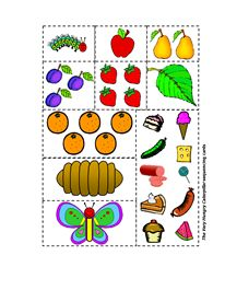 very hungry caterpillar sequencing pictures