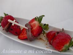 Fresas con anchoas