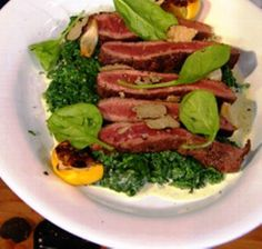Ho to make Beef with Spinach Parmesan Lemon and Olive Oil By Tyler Florence