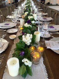Guests Tables at Nathalie & Brooke's Wedding