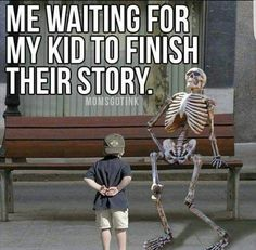 Waiting for my kid to finish their story