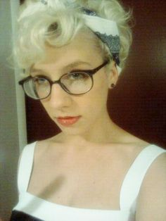 curly Pixie cut. I like the idea of being able to wear a short haircut curly or straight. This looks like it could be good styled both ways.