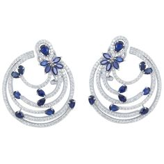 Blue Leaf & Petal Earrings  Product Code : ADERM1400029  Type : Blue Hydro, Swarovski  Color : Blue  #SilverEarringsOnlineShopping  #SilverEarringsOnlineIndia  #SilverEarringsIndia    #SilverEarringsOnline  #BuySilverEarringsOnline  #SilverEarringsForWomen  #SilverEarring #DesignerSilverEarrings  #BuySilverEarrings  #SilverEarrings  #Earrings