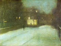 Nocturne in Grey and Gold: Chelsea Snow, 1876 Fogg Art Museum - James McNeill Whistler James Abbott Mcneill Whistler, Nocturne, Art Gris, Harvard Art Museum, Art Corner, Manet, Grey And Gold, Art For Art Sake, Sculpture