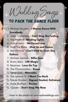 Wedding Songs Playlist to Pack the Dance Floor