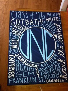 9 x 12 Personalized College Canvas by SJCanvasCo on Etsy, $20.00