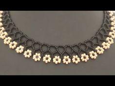 ÇİÇEKLİ KOLYE YAPIMI - YouTube Diy Jewelry, Beaded Jewelry, Handmade Jewelry, Beaded Embroidery, Beads, Diamond, My Style, Stuff To Buy, Youtube