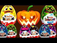 Halloween Monster High Maxi Kinder Surprise eggs Angry Birds CARS Surpri...