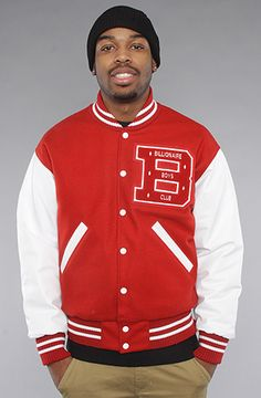 #Karmaloop The Quarterback Jacket in Red & White by Billionaire Boys Club  Use rep code:XLOOP for 20% off  Retail:$650.00