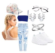 """""""summer ready"""" by queennicki1019 on Polyvore featuring adidas, BCBGeneration and Versace"""