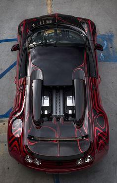 Bugatti Veyron Black Red Pattern