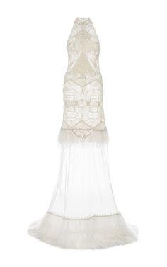 Beaded bodice tulle gown by Jonathan Simkhai | Moda Operandi