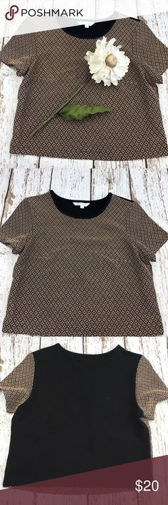 """💕SALE💕BCBGenerations Black Tan Top Gorgeous 💕BCBGenerations Black Tan Top 20"""" from the top of the shoulder to the bottom 18"""" from armpit to armpit BCBGeneration Tops"""