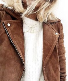 Wanted : a perfect camel suede motto jacket.