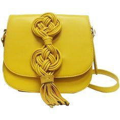 2dd86c6f0d1c Lionel Handbags Mustard Sarah Crossbody ( 20) ❤ liked on Polyvore featuring  bags