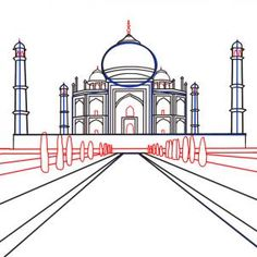 How to Draw the Taj Mahal, Step by Step