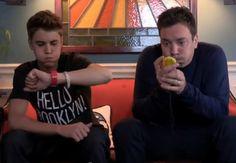 Justin Bieber wearing Hello Brooklyn T-Shirt by Sportiqe