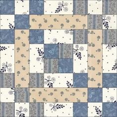 This would be cute using 6.5 inch squares for a 48 inch sq baby quilt