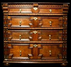 Very rare, finest quality, period, English, Charles II, oak chest of drawers. Circa 1670 by RYeakelCollection on Etsy https://www.etsy.com/listing/216820365/very-rare-finest-quality-period-english