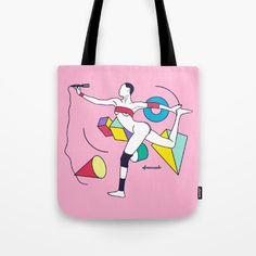 Grace Jones Tote Bag by Afrancesado - $22.00