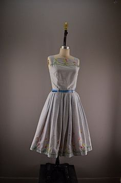 1950s sundress 50s skirt and blouse size medium by melsvanity, $98.00