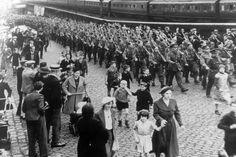 1939 Sixth Battalion Cheshire Regiment marching through Stockport, taken at Edgeley Station(960×640)