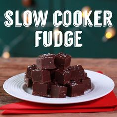 Who knew you could make fudge in the slow cooker?