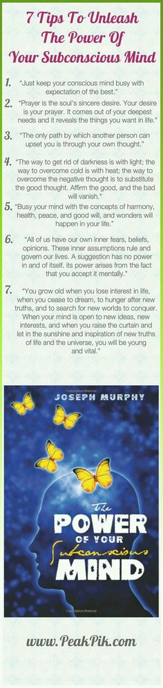 Money and Law of Attraction - In The Power of Your Subconscious Mind, Dr. Joseph Murphy gives you the tools you will need to unlock the awesome powers of your subconscious mind. You can improve your relationships, your finances, your physical well-being. Subconscious Mind Power, A Course In Miracles, After Life, Joseph Murphy, Way Of Life, Positive Thoughts, Quotes Positive, Positive Thinking Tips, Positive Affirmations