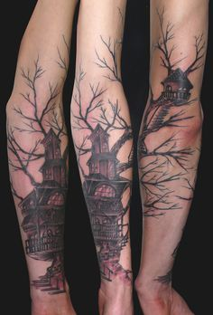 A Treehouse on your skin | Hometreehome Tattoo by dr.soju
