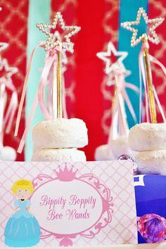 Colorful Disney Princess Party Ideas: Wands