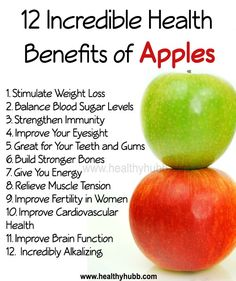12 Incredible Health Benefits of Apples! #fruit #organic #wellness #food #nutrition