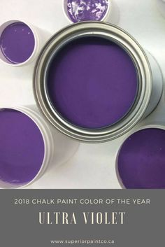 Chalk paint colour of the year is Superior Paint Co. Ultra Violet
