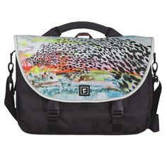 Flock laptop bag, Ink Painting, the flock has a movement over which the land has a part. abstract landscape. birds, 202