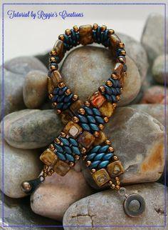 Tutorial  Czechmate Tile & SuperDuo Cuff Bracelet by