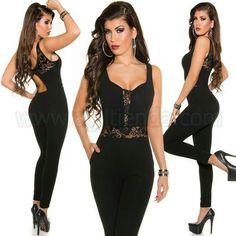 #Exclusivo #mono #overol #mujer de #coctel y #fiesta #diseño ajustado al #cuerpo con #tejido #elastico que #estiliza la #figura en @sexy #encaje #transparente que destaca en nuestra #espalda #busto y #cintura para un #efecto @atrevido @chic y #sofisticado. Encuentralo Monos Enterizos de http://www.agiltienda.com/es/home/2333-peto-enterizo-fiesta-con-transparencia.html #online #shop @agiltienda.es