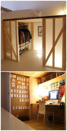 2x4 Lofted cube with coroplast panels, bed on top,... - #2x4 #bed #coroplast #CUBE #kleiderschrank #Lofted #panels #top