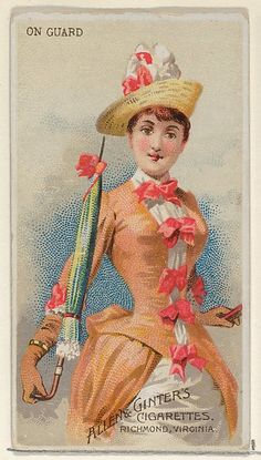 On Guard, from the Parasol Drills series (N18) for Allen & Ginter Cigarettes Brands