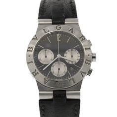 Pre-Owned Bvlgari Unisex Stainless Steel Diagono Chronograph Bvlgari, Breitling, Luxury Jewelry, Omega Watch, Chronograph, Jewelry Watches, Stainless Steel, Unisex, Vintage