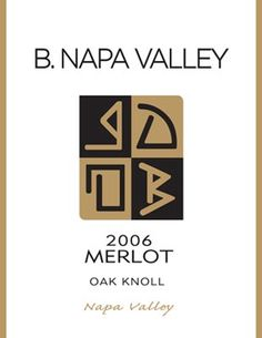 napa valley wine labels | Napa Valley 2006 Merlot - Wine Label Design Portfolio