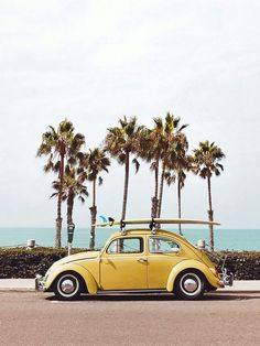 Yellow VW bug in Oceanside, California Printed on Hahnemuhle Photo Rag 308 Free domestic shipping on all orders Right this way for more details Beach Aesthetic, Summer Aesthetic, Aesthetic Vintage, Photo Vintage, Vintage Cars, Photo Wall Collage, Cute Cars, Aesthetic Pictures, Cute Wallpapers