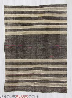"""Vintage modern kilim rug from Afyon region of Turkey. In very good condition. Approximately 50-60 years old. Width: 6' 1"""" - Length: 8' 6"""" Modern and Decorative Kilims"""