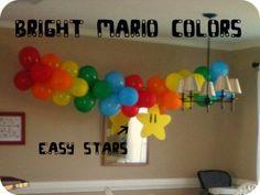 balloons for super mario bros party