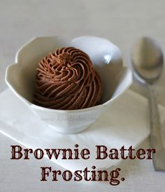 Chocolate Brownie Batter Frosting