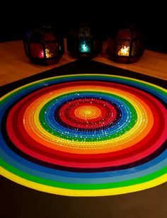 Rainbow circle by Indya