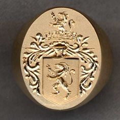 Hand-engraved Family Crest (Coat of Arms) Rings by Heraldica Imports