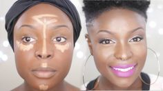highlighting and contouring for black women